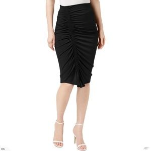 Vince Camuto Womens Ruched Pencil Skirt